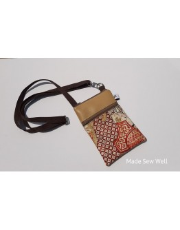 Cell Phone Crossbody - Gold and Rust